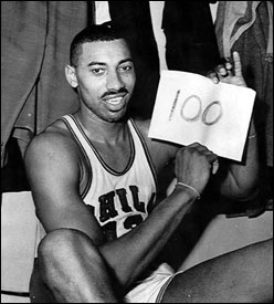 Wilt Chamberlain scores 100 points - Great Black Heroes