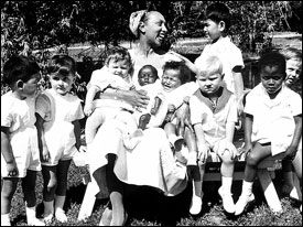 "Josephine Baker and her ""Rainbow Tribe"""